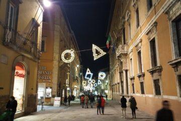 Kerstmis in Italië in de Corso Vannucci