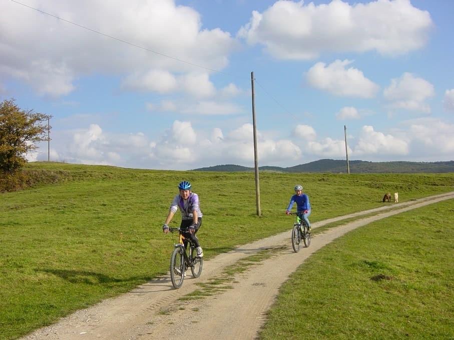 Je kunt direct vanuit Polmone ook fantastisch fietsen