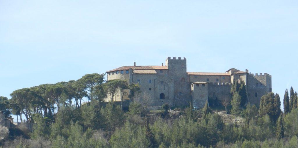 In dit kasteel van Montegiove,in Umbrië kun je wijnproeven