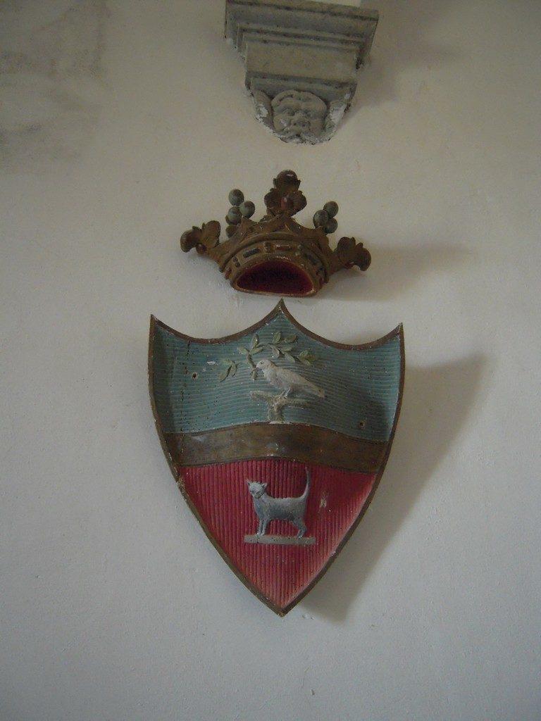 Het familiewapen van het Castello di Montegiove