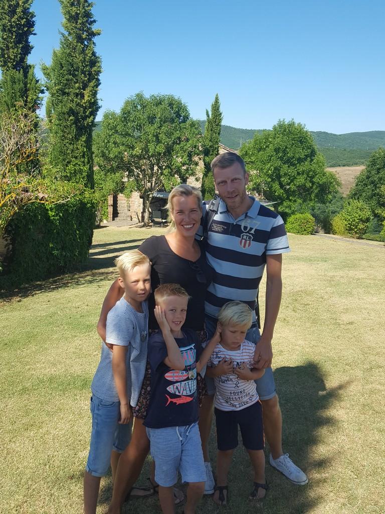 De familie Hoogervorst was in de zomervakantie op Polmone met hun kinderen