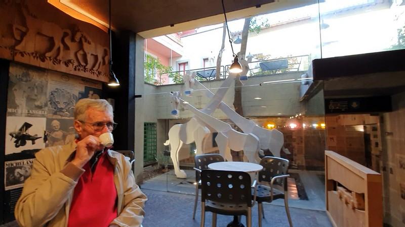 Interieur van Bar Montanucci ingericht door Michelangeli