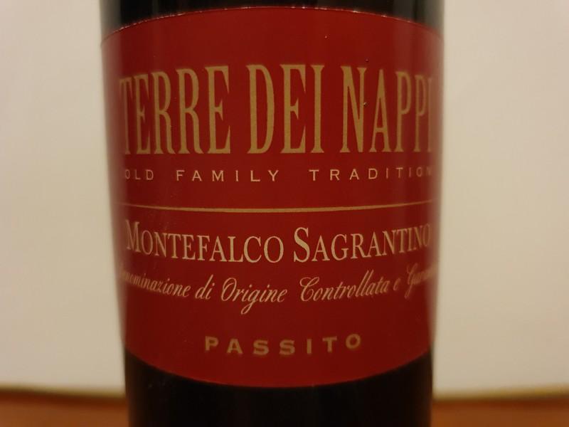 Dit is een passito wijn van de regio Umbrië uit Montefalco van de Sagrantino druif